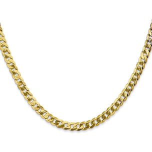 14K Gold 4.6mm Beveled Curb Chain