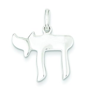 Sterling Silver Chai Charm