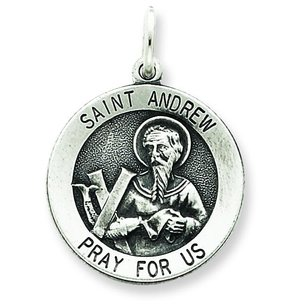 Sterling Silver Saint Andrew Medal