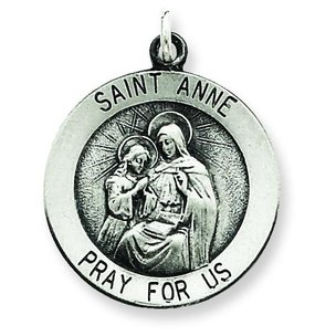 Sterling Silver Saint Anne Medal