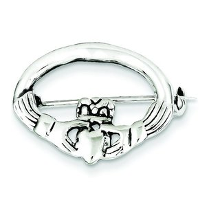 Sterling Silver Claddagh Pin