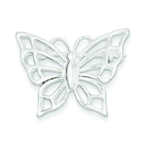 Sterling Silver Fancy Butterfly Pin Insect Jewelry