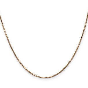 14K Rose Gold 1mm Box Link Chain
