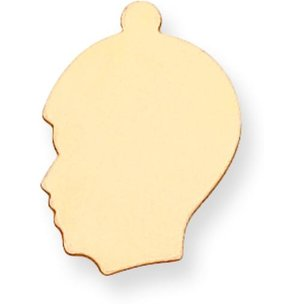 "14K Gold Boy Stamping Disc 17.00mm by 20.00mm (0.018"" or 0.032"" Thick)"