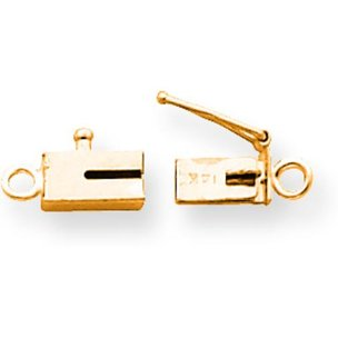 14K Gold Barrel Clasp Replacement Tongue 7.6x3.7mm