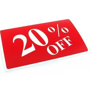 10% 20% 30% Off Message Signs 11""