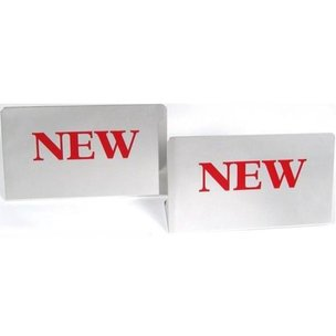 """New"" Jewelry Showcase Signs 3 1/2"" 2Pcs"